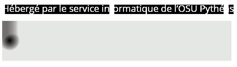 Site hébergé par les service informatique de l'OSU Pythéas