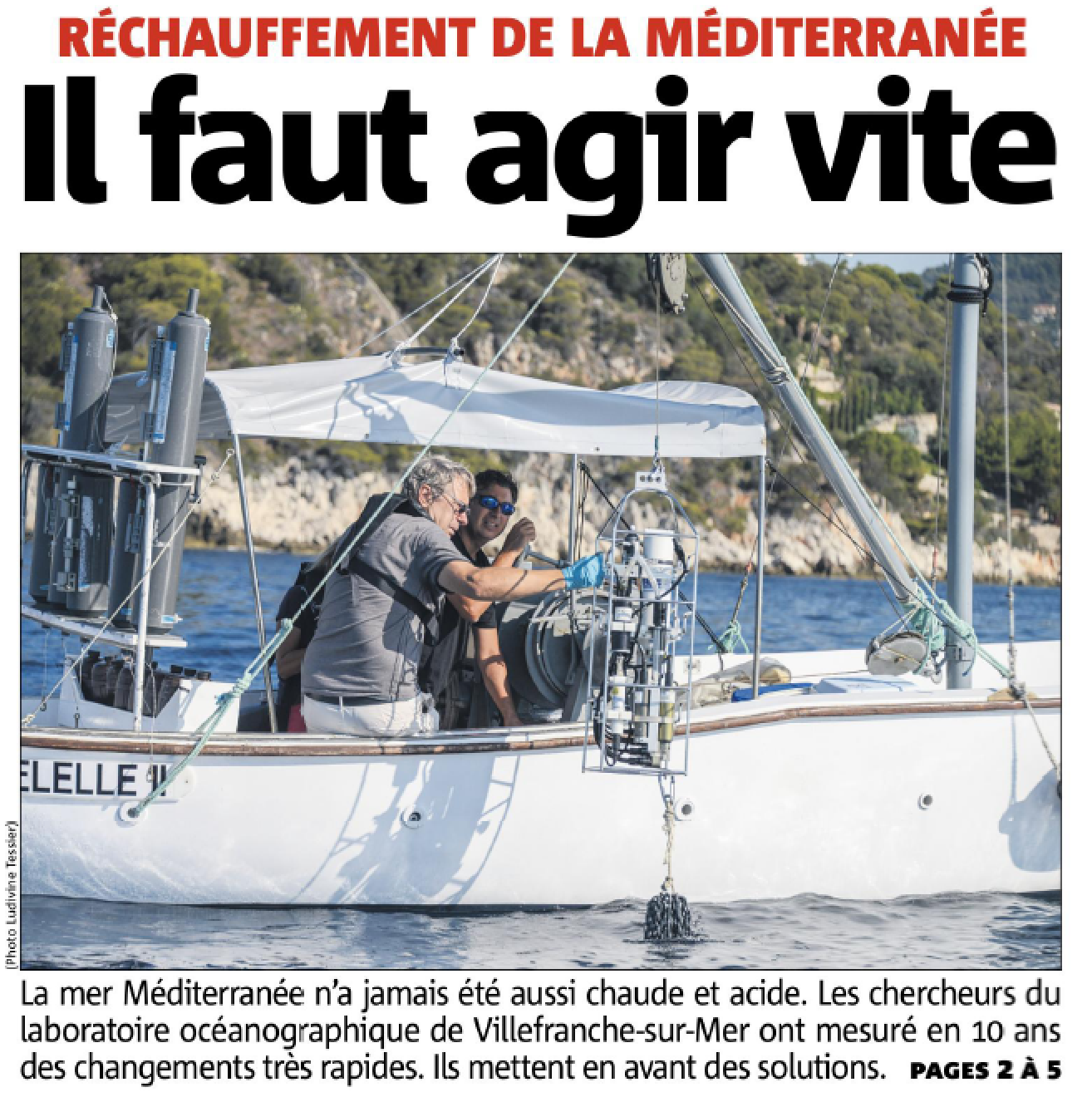 Réchauffement de la méditerranée : il faut agir vite !!