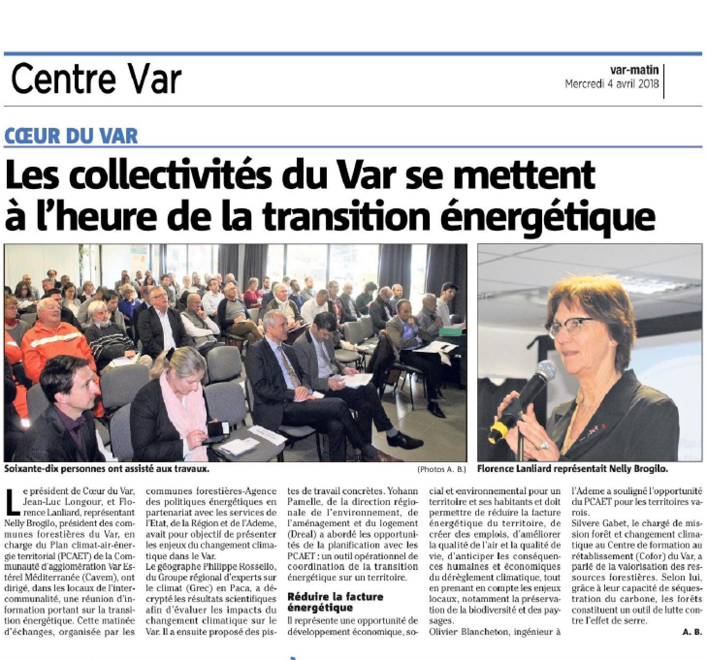 Retour sur la journée PCAET du Var : présentations et presse