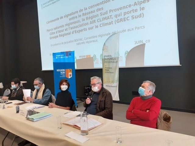 Lancement de la convention PNR/AIR Climat/Région